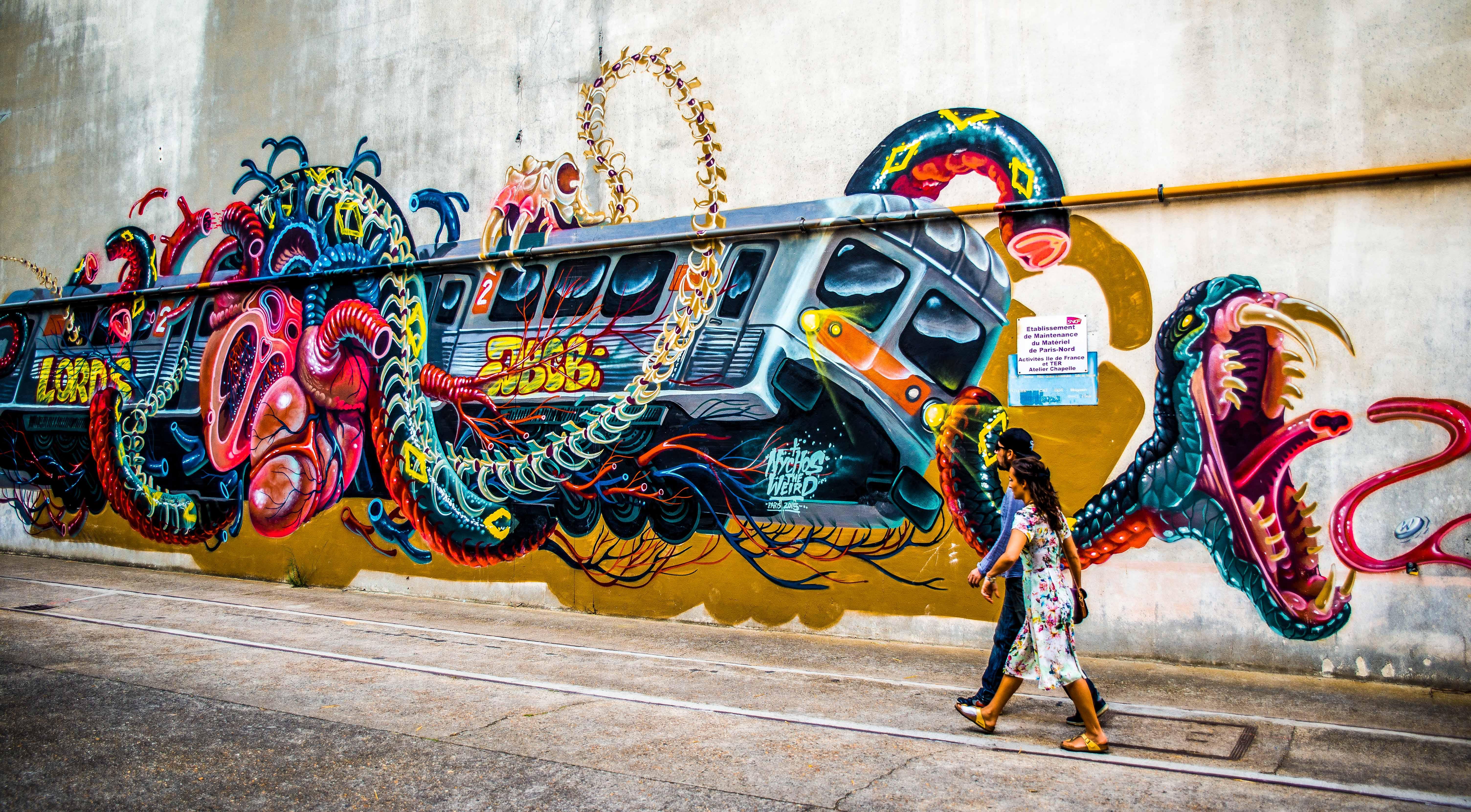 streetart grandtrain grand train icietlabas blog blogvoyage